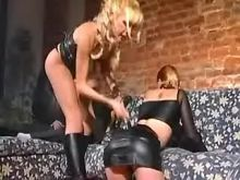 Latex trans mistress in crazy orgy